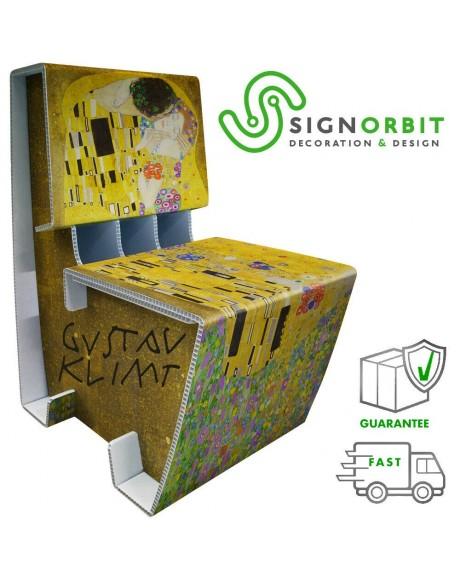 Poltrona sedia Klimt The Kiss - in plastica per esterno e interno