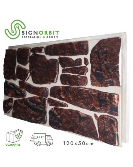 PORFIDO ROSSO pannello finta pietra in EPS Resinato Misura 120x50 Cm Spessore 4 cm
