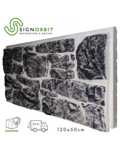 PORFIDO ANTRACITE pannello finta pietra in EPS Resinato Misura 120x50 Cm Spessore 4 cm