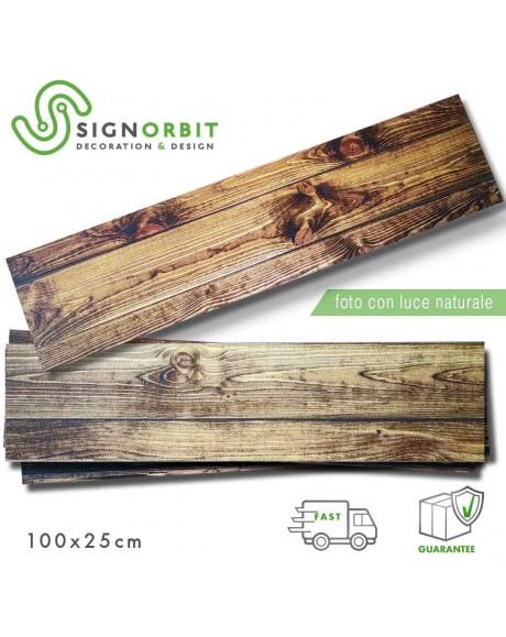 Pannello decorativo effetto legno noce in polistirolo resinato for Polistirolo finto legno