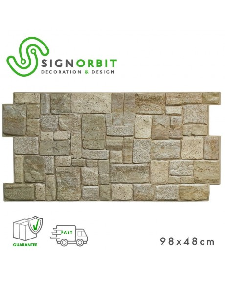 Coreno - Pannello finta pietra in PVC 98x48cm kit di 2 Pz 1 mq