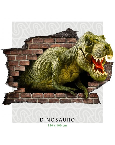 Adesivo murale 3D dinosauro T-Rex adesivo per muro cameretta bimbi wall sticker