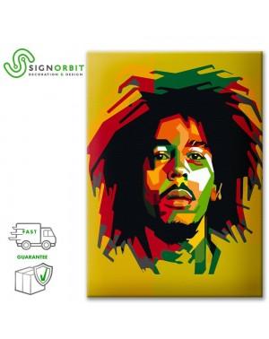 Bob Marley Tela arredo pop...
