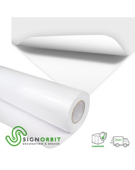 Adesivo Bianco Pellicola adesiva in PVC di colore bianco finitura opaca