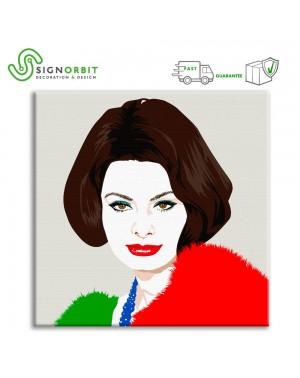 Stampa su tela Sofia Loren...