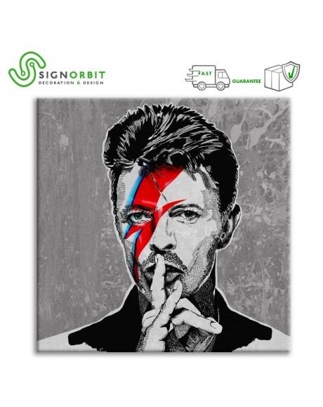 Stampa su tela David Bowie Quadro Canvas su telaio in legno