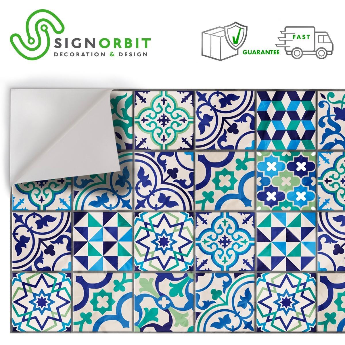 Piastrelle Decorative Per Tavoli mattonelle di vietri pellicola adesiva in pvc finitura opaca
