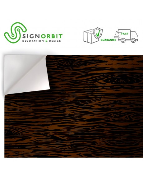 Venature legno scuro Pellicola adesiva in PVC finitura opaca