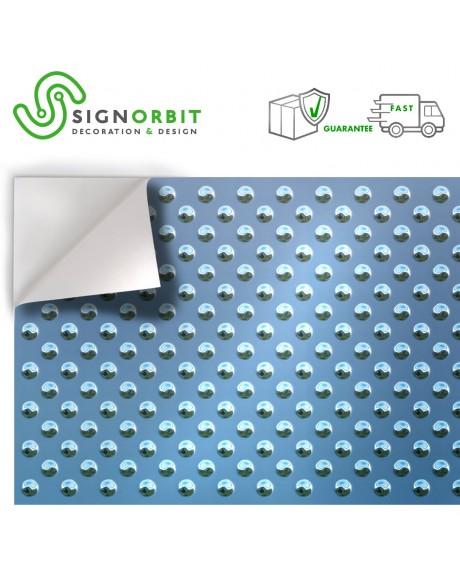 Lastra metallica blu con sfere - Pellicola adesiva in PVC finitura opaca