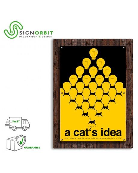 A CAT'S IDEA - Quadro arredo a rilievo in PVC distanziato