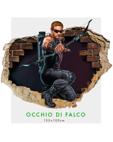 Occhio di Falco - Adesivi murali parete 3D  wall sticker cameretta bimbi