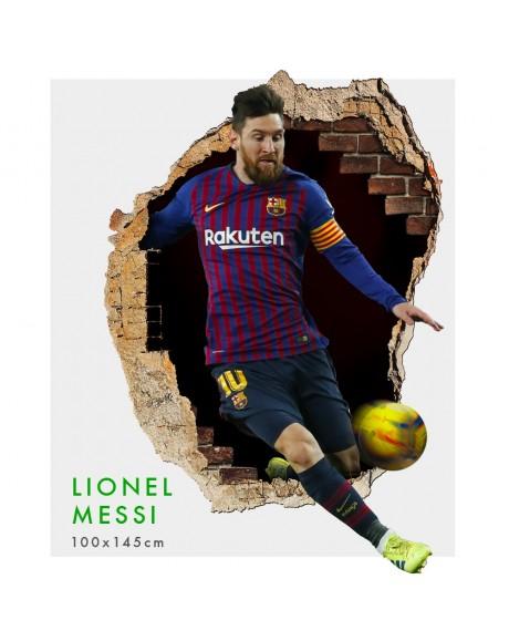Lionel Messi - Adesivi murali parete 3D  wall sticker cameretta bimbi