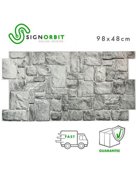 Pannello finta pietra GREYSTONE in PVC 98x48cm kit di 2 Pz 1 mq