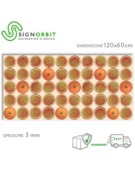 ARANCE - Paraschizzi da cucina in PVC flessibile - Misura 120x60cm spessore 3mm