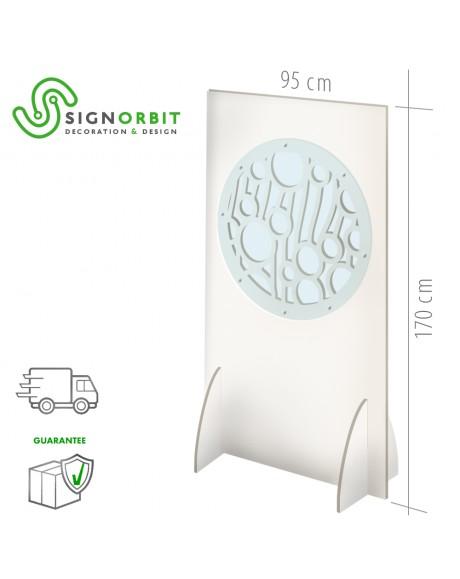 Maxi Protezione in PVC e plexiglass anticontagio per esercizi commerciali 2cmdi spessore - 94x170cm