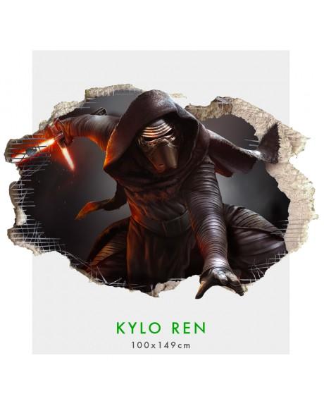 Kylo Ren Guerre stellari - Adesivo murale parete 3D  wall sticker cameretta bimbi