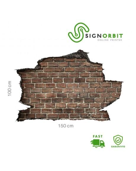 Adesivo parete muro effetto 3D MATTONI wall sticker adesivo per muro