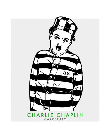 Charlie Chaplin - Adesivo intagliato