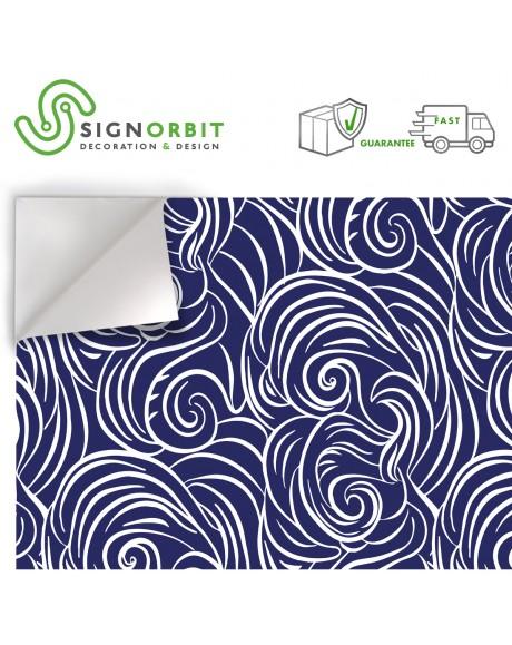 ONDE RICCE - Pellicola stampata adesiva in PVC finitura opaca