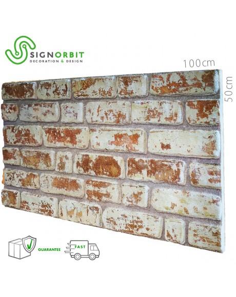 SANTORINI pannello finto mattone in EPS Resinato Misura 100x50 Cm spessore 2 cm