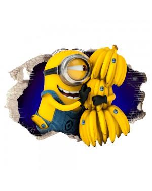 MINION con Banane - Adesivo...