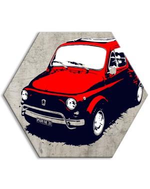 FIAT 500 - a colori - Tela...