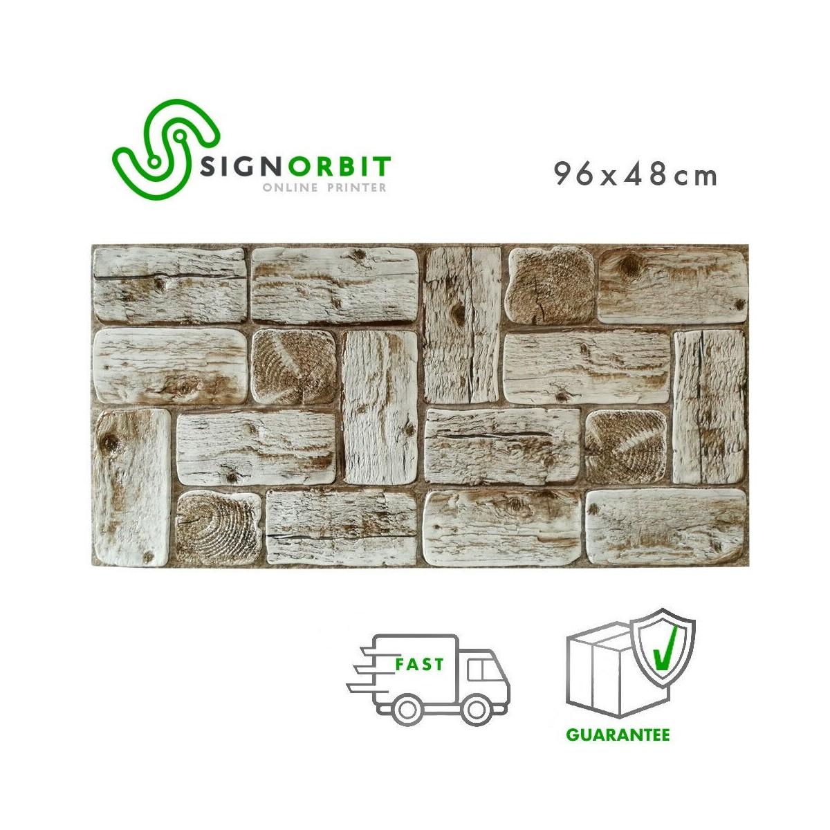 Tavole Legno Per Rivestimento Pareti pannello decorativo in pvc rivestimento parete finto legno tronchi di pino  chiaro 96x48cm 2 pz 1 mq