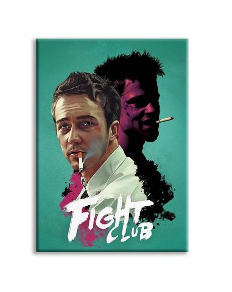 FIGHT CLUB - Locandina Film - Quadro stampato su Canvas e montato su telaio in legno