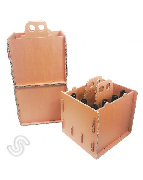 Cassettine in cartone per 12 bottiglie - 23cm X27,5cm xH30cm