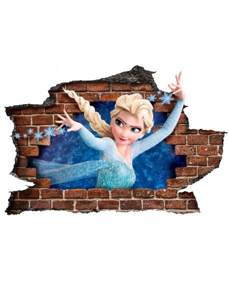FROZEN - Adesivo murale parete 3D wall sticker camera bimbi