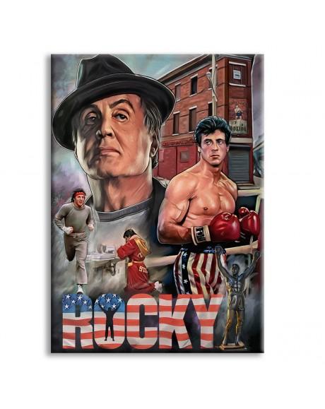 ROCKY - Quadro stampato su Canvas e montato su telaio in legno