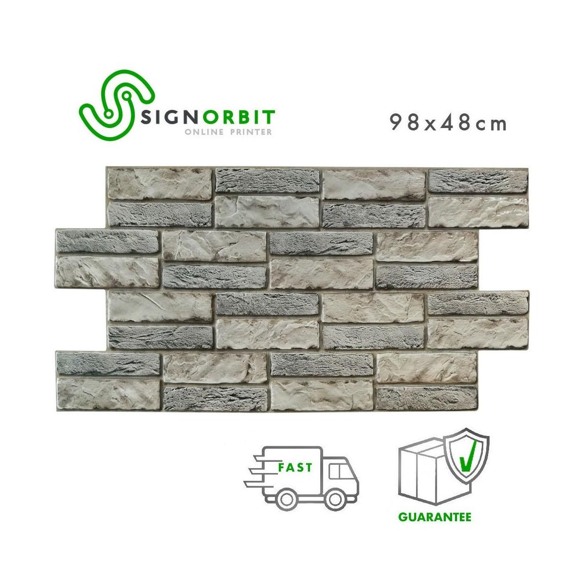 Pareti In Finta Pietra pietra espansa chiara - pannelli parete in pvc finta pietra chiara effetto  3d 98x48cm x 0.4mm