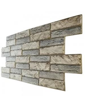 pannelli parete in pvc finta pietra chiara effetto 3d