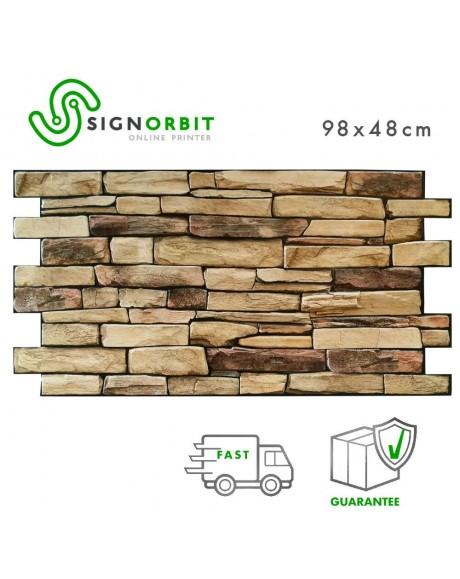 Ardesia - Pannelli parete in PVC finta Pietra decorazione parete 3D 98x48cm 2 Pz 1 Mq