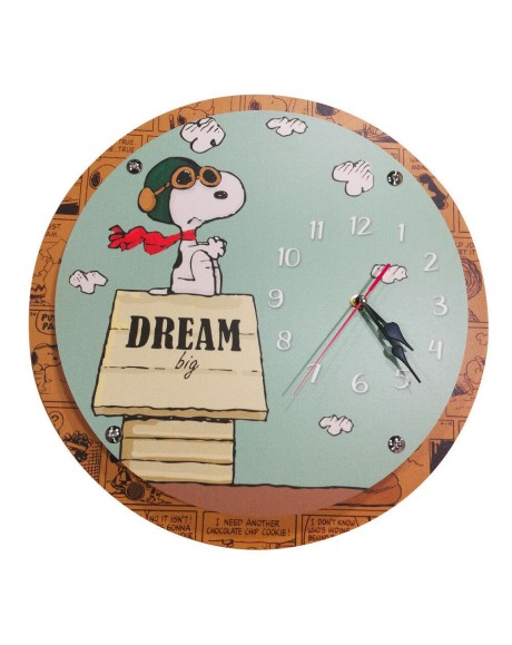 Orologio da parete in Pvc modello Snoopy Dream -Ø 42 cm distanziatori acciaio