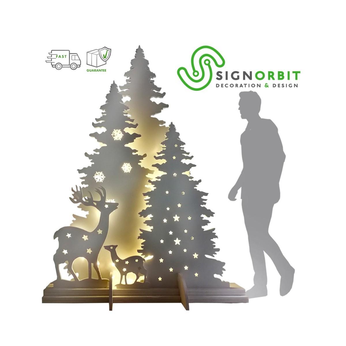 Immagini Alberi Di Natale.Albero Di Natale Modello Trittico Struttura Autoportante Con Base