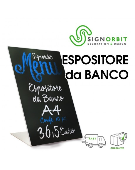 ESPOSITORE DA BANCO - A4 - Forex 3mm - 10 pz