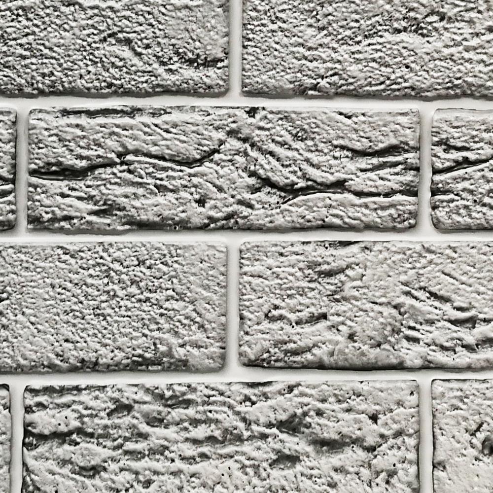 Pareti In Finta Pietra pannelli in abs in 3d a rilievo finta pietra grigio chiara
